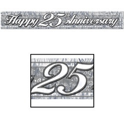 25th Metallic Anniversary Banner