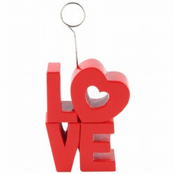 Red LOVE Photo/Balloon Holder
