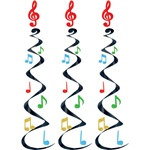 Music Note Whirls (3/pkg)