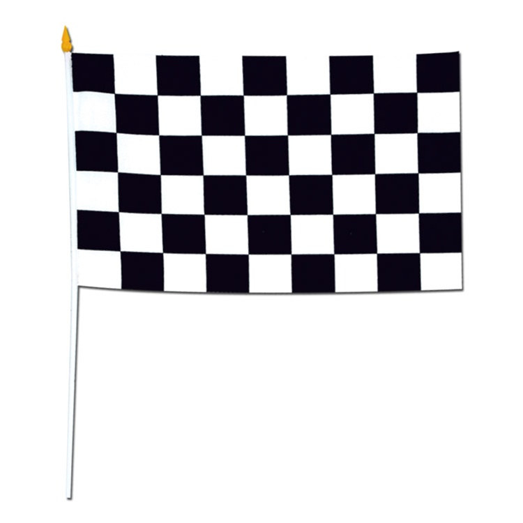 Rayon Racing Flag 11 In X 18 In PartyCheap