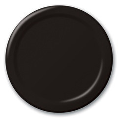 Black Lunch Plates (24/pkg)