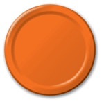 Orange Lunch Plates (24/pkg)