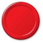 Red Lunch Plates (24/pkg)