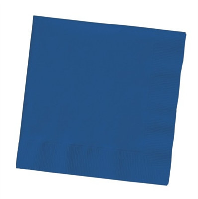 Navy Beverage Napkins (50/pkg)