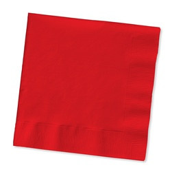 Red Beverage Napkins (50/pkg)