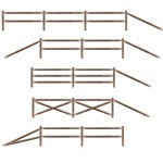 Split Rail Fence Party Props (11/pkg)
