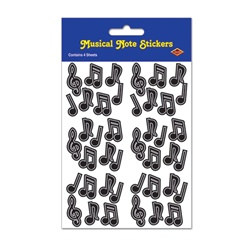 Black Musical Note Stickers (4 sheets/pkg)