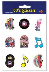 50's Stickers (4 sheets/pkg)