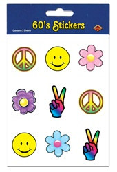 60's Stickers (4 sheets/pkg)