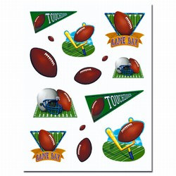 Game Day Football Stickers (4 sheets/pkg)