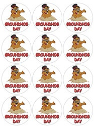 Groundhog Day Stickers (2 sheets/pkg)