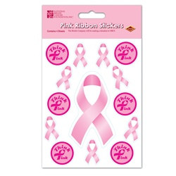 Pink Ribbon Stickers (4 sheets/pkg)