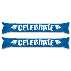 Blue and White Graduation Party Sticks