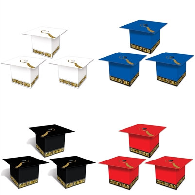 Graduation Cap Favor Boxes (Please Select Color)
