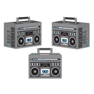 Boom Box Favor Boxes (3 Per Package)
