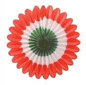 Red, White, and Green Mini Tissue Fans
