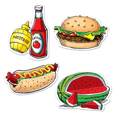 Picnic Food Cutouts (4 Cutouts Per Package)
