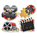 Movie Set Cutouts (4/Pkg)