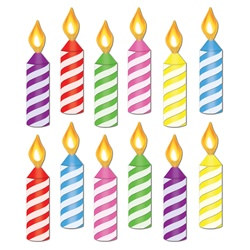 Mini Birthday Candle Cutouts (12/pkg)