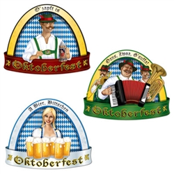 Oktoberfest Decorations from PartyCheap like the cut-outs set the perfect Oktoberfest mood for your party goers