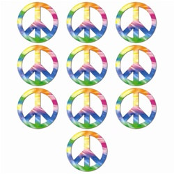 Mini Peace Sign Cutouts (10/pkg)