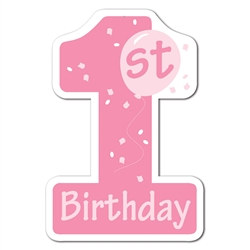 Pink 1st Birthday Cutout