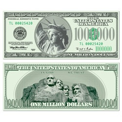 1 Million Dollar Bill Cutout