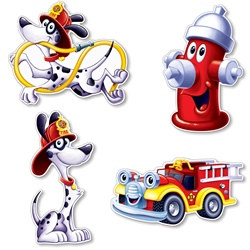 Fire Station Cutouts (4/pkg)