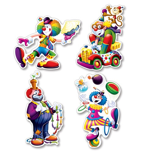 Circus clown cutouts partycheap - Cheap circus decorations ...
