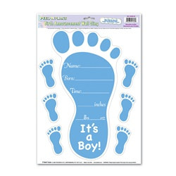 Blue Birth Announcement Peel N Place (7/sheet)