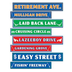 Retirement Street Sign Cutout