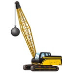 Jointed Crane with Wrecking Ball