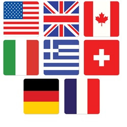 International Coasters (8/pkg)