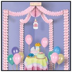 It's A Girl Party Canopy
