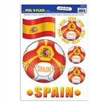 Spain Soccer Peel 'N Place (6/Sheet)
