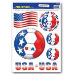 United States Soccer Peel 'N Place (6/Sheet)