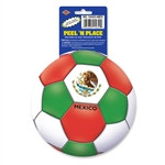 Mexico Soccer Ball Peel 'N Place (1/Sheet)