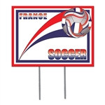France Soccer Plastic Yard Sign