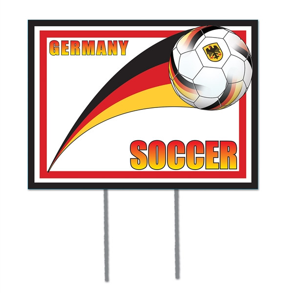 German Soccer Yard Sign