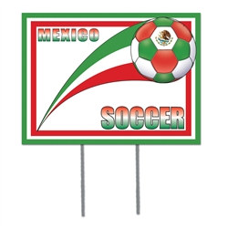 Mexico Soccer Plastic Yard Sign