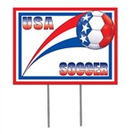 United States Soccer Plastic Yard Sign