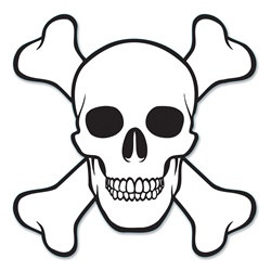 Skull and Crossbones Cutout