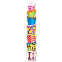 Jointed Happy Birthday Cake Pull-Down Cutout