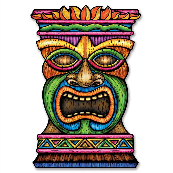 Jumbo tiki cutout partycheap for Tiki hawaiano