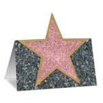 Hollywood Star Place Cards (12/Pkg)