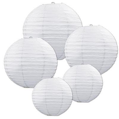 White paper lantern assortment partycheap - White hanging paper lanterns ...