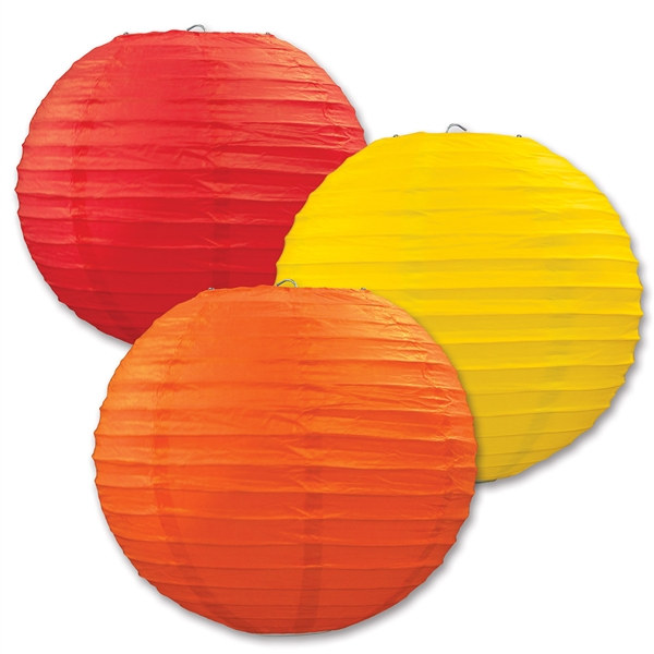 golden yellow orange and red paper lanterns 3 pkg partycheap. Black Bedroom Furniture Sets. Home Design Ideas