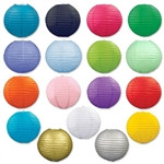 Pack of 3 Paper Lanterns (Choose Color)
