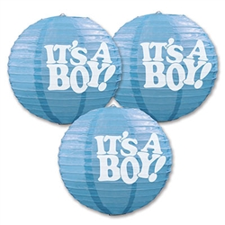 It's A Boy Paper Lanterns (3/Pkg)