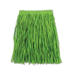 Green Adult Mini Paper Raffia Hula Skirt (1/Pkg)